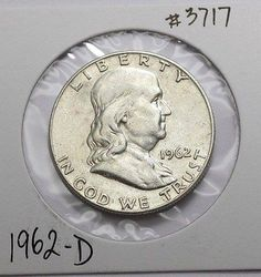 1962-D  Franklin Half Dollar  90% Silver Old US Coin , 50c  NO RESERVE !!! - http://coins.goshoppins.com/us-coins/1962-d-franklin-half-dollar-90-silver-old-us-coin-50c-no-reserve/