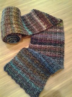 Yarn: Off With Their Heads! Pattern: One Row Handspun Scarf by Stephanie Pearl McPhee. Knit by Susan from Portland.