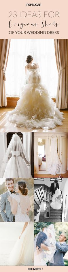 23 Wedding Dress Pictures You'll Regret Not Taking: gorgeous photo ideas of the bride, dress, and groom for your wedding day