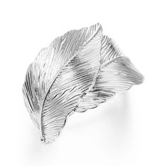 Silver Curved Leaves Hair Pin Hair Clip