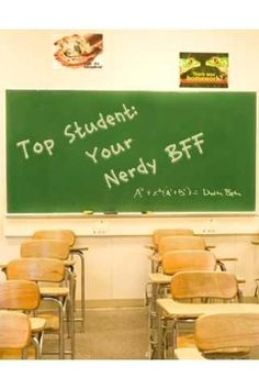 Nerdy Top Student Chalkboard  Image Chef iOS app