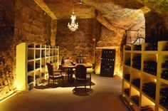 The room dedicated to secret meetings and old vintages.
