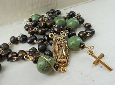 Pearl rosary by SunshinesPush on Etsy, $52.00