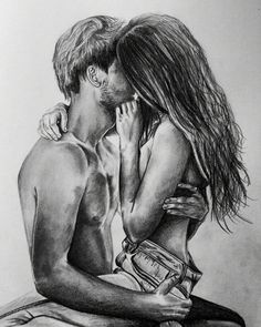 Best Couple Drawings Images For Loving Couple - Page 2 of 4 - Disqora Couple Drawing Images, Couple Drawings, Love Drawings, Art Drawings, Graphite Drawings, Illusion Kunst, Photo Manga, Couple Art, Love Images