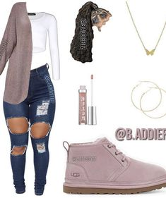 Dope Swag Outfits, Baddie Outfits Casual, Swag Outfits For Girls, Teenage Girl Outfits, Cute Comfy Outfits, Girls Fashion Clothes, Teenager Outfits, Teen Fashion Outfits, Trendy Outfits