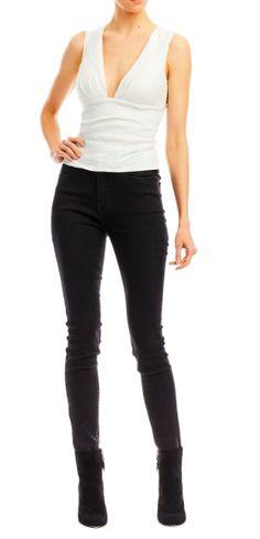 76fed2d7c3b61 Nicole Miller Low Neck Tuck Top | Piajeh Boutique European Fashion, Latest  Fashion Trends,