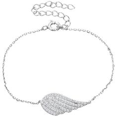 Ever Faith 925 Sterling Silver CZ Angel Wing Feather Adjustable Chain Bracelet N06633-1 Ever Faith http://www.amazon.co.uk/dp/B013HY4SU8/ref=cm_sw_r_pi_dp_mggZvb1MPE8TR