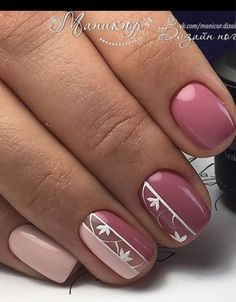 Manicure of Pink and White Flowers Nail Art Designs # Na. Manicure of Pink and White Flowers Nail Art Designs # Nagel Designs Nail Polish, Nail Manicure, Gel Nails, Acrylic Nails, Coffin Nails, Gel Manicures, White Manicure, Marble Nails, Short Nail Designs