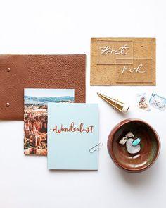Wanderlust mini notebook set// #mooreaseal