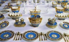 Dinner service of Empress Catherine II (Catherine the Great of Russia) (1729-1796 - Found on Royalty & Pomp: 09/09/13 http://royalisticism.blogspot.co.uk/2013/09/the-lunch.html