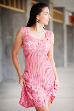 Crochet dress 'Sweet Alabama' by designer FashionMartina. Dress is for sale at DaWanda.