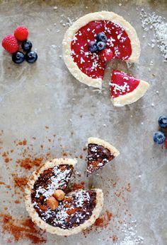 Grain & Dairy Free Tarts // Dark Chocolate & Fruit Filled