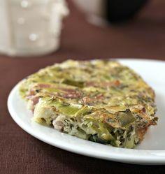 Clafoutis aux poireaux et lardons (sans lactose, sans gluten), la recette d'Ôdélices : retrouvez les ingrédients, la préparation, des recettes similaires et des photos qui donnent envie !