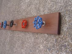 Recycled Faucet Handles Coat Hanger Rack Rustic with 7 by zantana, $58.00