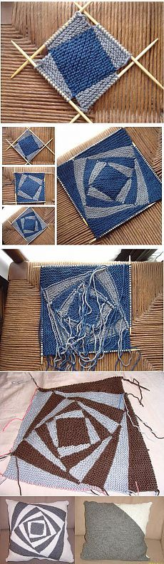 Tutorial for Crochet, Knitting. Knitting Stitches, Knitting Yarn, Hand Knitting, Knitting Squares, Double Knitting, Stitch Patterns, Knitting Patterns, Knitting Ideas, Knitting