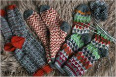 Handgestrickte Socken ♥ Resteverwertung