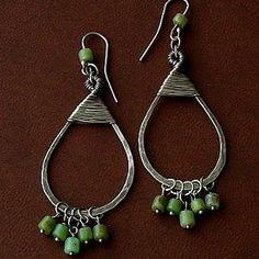 Wire Wrapped Tear Drop Earrings | JewelryLessons.com