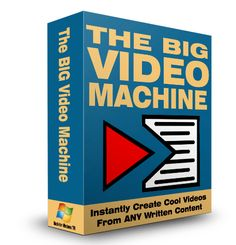 Have you ever tried to turn your text articles into some videos with music background or something like that? Was the price you paid for that converter product worth it? Was that product easy to be used? Does it take too long to create the video? Well, Big Video Machine may not be the first text to video converter but it IS the EASIEST and QUICKEST. This awesome software will turn your boring text article into traffic pulling video content. Moreover, you can do it in minutes.