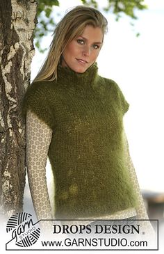 Ravelry: Loosely knitted tank top pattern by DROPS design Easy Knitting, Knitting Patterns Free, Knit Patterns, Free Pattern, Top Pattern, Drops Design, Viernes Casual, Drops Patterns, Knit Vest