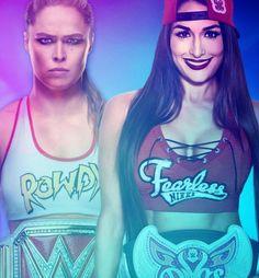 Evolution PPV Ronda Rousey vs Nikki Bella for Raw Woman Champion Wwe Women's Championship, Ronda Rousey Wwe, Mercedes Kaestner Varnado, Rowdy Ronda, Wwe Female Wrestlers, Wwe Stuff, Wwe Wallpapers, Raw Women's Champion, Sasha Bank