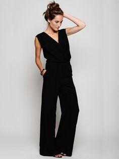 Love love love love fashion, cloth, style, dress, outfit, black jumpsuit, closet, piper gore, jumpsuits