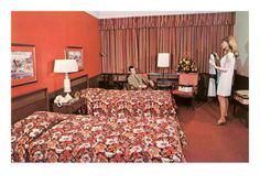 Sixties Hotel Room