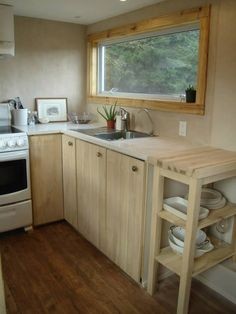 A tiny house on wheels built using no chemicals in British Columbia, Canada.