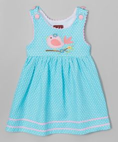 Look at this #zulilyfind! Blue & Pink Songbird Jumper - Infant, Toddler & Girls #zulilyfinds
