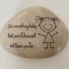 stick figure do something today Rock Painting Ideas Easy, Rock Painting Designs, Paint Designs, Pebble Painting, Pebble Art, Stone Painting, Stone Crafts, Rock Crafts, Rock And Pebbles