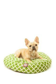 Sage Bamboo Round Pet Bed