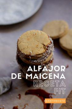 Receta de alfajores de maicena Receta saludable y fit con dulce de leche sin azúcar. #fitness #foodie #alfajores #recetafit