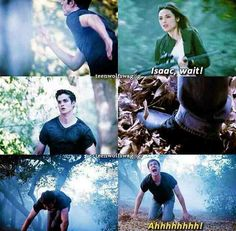 """""""More Bad Than Good""""- Isaac and Allison >>> I literally cried at this part! Teen Wolf Dylan, Teen Wolf Stiles, Teen Wolf Cast, Dylan O'brien, Teen Wolf Quotes, Teen Wolf Memes, Dread Doctors, Teen Wolf Seasons, Teen Tv"""