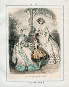 Magasin des Demoiselles, July 1863. LAPL Visual Collections.  Civil War Era Fashion Plate