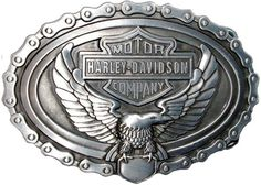 Harley-Davidson Logo with Eagle and Chain Die Cast Belt Buckle  http://bikeraa.com/harley-davidson-logo-with-eagle-and-chain-die-cast-belt-buckle/