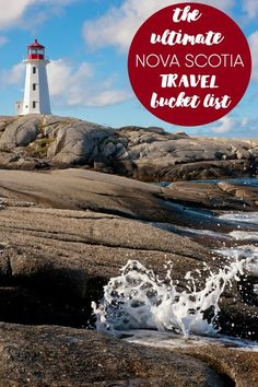 Ultimate Nova Scotia Travel Bucket List The Ultimate Nova Scotia Travel Bucket List - One of Canada's most beautiful provinces is yours to explore! This travel bucket list has 10 must-see spots for your visit.Spot Spot or SPOT may refer to: East Coast Travel, East Coast Road Trip, Cool Places To Visit, Places To Travel, Places To Go, New Travel, Canada Travel, Canada Trip, Summer Travel