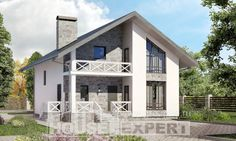 Two Story House Plans with mansard roof with garage, best house Design Blueprints, Two Story House Plans, My House Plans, Two Story Homes, Mansard Roof, Diy Home Decor Bedroom, Village Houses, Simple House, Beautiful Homes, New Homes