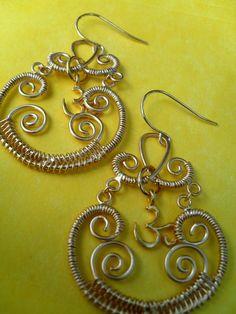 OM Chandelier Earrings by waydownhere on Etsy, $16.50