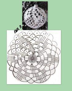 Zdjęcie użytkownika Crochet art and craft. Crochet Christmas Decorations, Crochet Decoration, Crochet Christmas Ornaments, Christmas Crochet Patterns, Crochet Doily Patterns, Crochet Diagram, Handmade Ornaments, Crochet Motif, Crochet Flowers