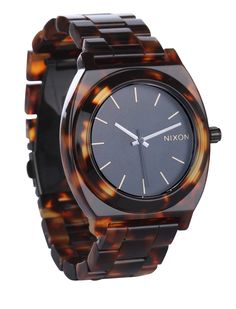Watch tortoise - Nixon ~~ I have wanted a Nixon watch FOREVER... sigh
