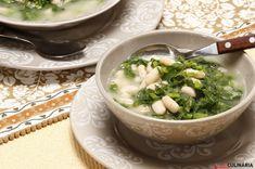 Receita de Sopa de grelos com feijão branco. Descubra como cozinhar Sopa de grelos com feijão branco de maneira prática e deliciosa com a Teleculinária!