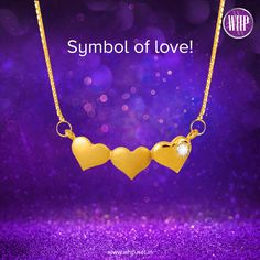 When one or two hearts aren't enough, you gift your beautiful lady three hearts in a form of this beguiling pendant!  View more: http://bit.ly/2l3EEAz