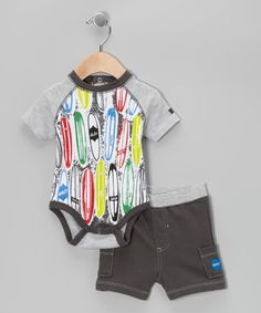 Surfboard Bodysuit & Shorts by Hurley #zulily