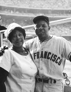 Ella Fitzgerald poses with Willie Mays, who was a player for the San Francisco Giants. Ella Fitzgerald Collection, Archives Center, National Museum of American History. Ella Fitzgerald, Nova Orleans, San Francisco, Willie Mays, My Black Is Beautiful, Beautiful People, Before Us, African American History, My People