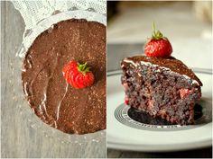 Čokoládový dort s jahodami Gimme Some Sugar, Other Recipes, Food And Drink, Baking, Desserts, Summer, Postres, Summer Time, Patisserie