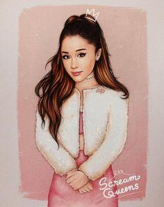 Full size of my #ScreamQueens Ariana Grande fan-art - @theartofdreams_