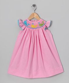 Take a look at this Pink Whale Angel-Sleeve Dress - Infant, Toddler & Girls by Smockadot Kids on #zulily today!
