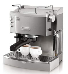 Espresso Machine with Frothing Nozzle for Cappuccino. Achieve the most authentic flavor with the DeLonghi EC 702 Pump Espresso Maker. Enjoy delicious espresso made your way with De'Longhi's pump espresso and cappuccino maker. Cappuccino Maker, Cappuccino Machine, Espresso Maker, Espresso Coffee, Coffee Cafe, Best Coffee, Espresso Kitchen, Coffe Maker, Nyc Coffee
