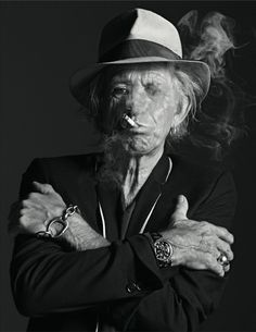 Keith Richards by Mario Sorrenti                                                                                                                                                      Má