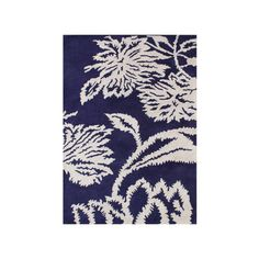 Found it at Wayfair - Woodburn Hand-Tufted Blue/White Area Rug