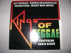 KINGS OF REGGAE music LP record vtg CHRIS HINZE Sly Dunbar ROBBIE SHAKESPEARE #Roots